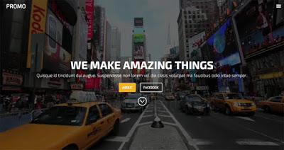 responsive html landing page template for website design