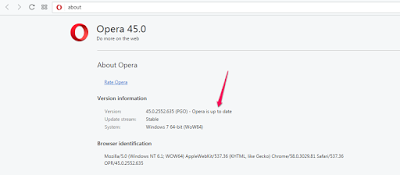 opera web browser updated