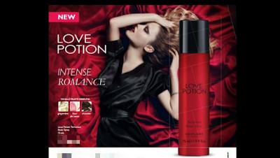 oriflame nigeria love potion body spray for woman