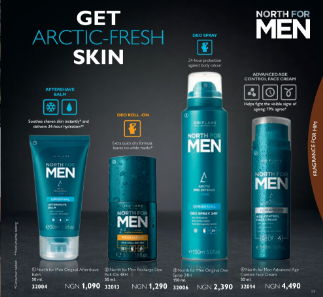 oriflame products for men and prices in nigeria