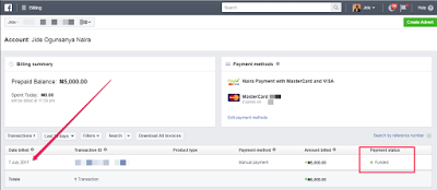 fund fb ads account in naira with gtbank mastercard