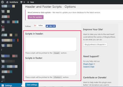 sulvo ad network place javascript in wordpress header