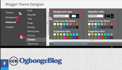 change sidebar background colour of blogger blog