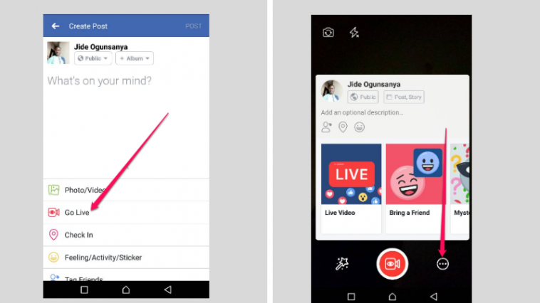 facebook live audio streaming for android iphone