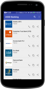 mobile app for nigerian banks ussd codes