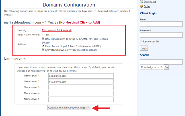 domain free dns management whois privacy