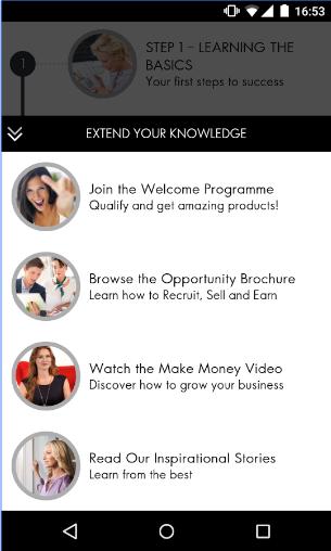 oriflame get started app