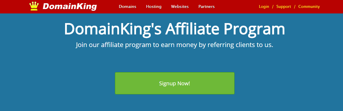 Domainking affiliate program how to make money and for Home affiliate programs