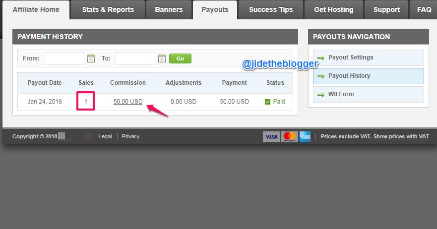 earn 50 dollars per sale web hosting