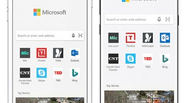 microsoft edge web browser for android and ios