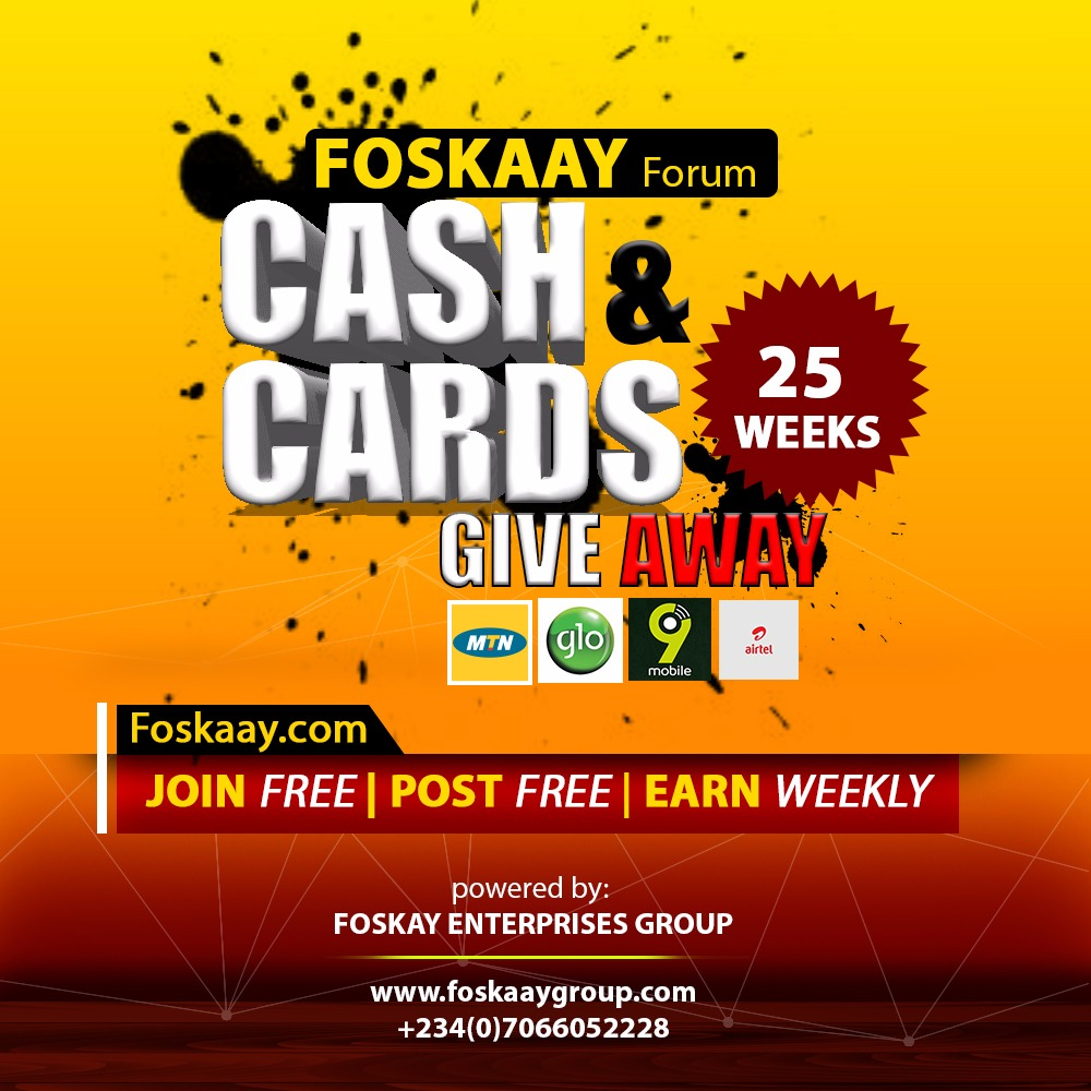 foskaay giveaways cash free airtime nigeria