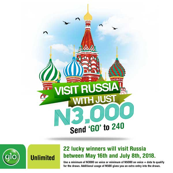 travel to russia from nigeria free glo promo