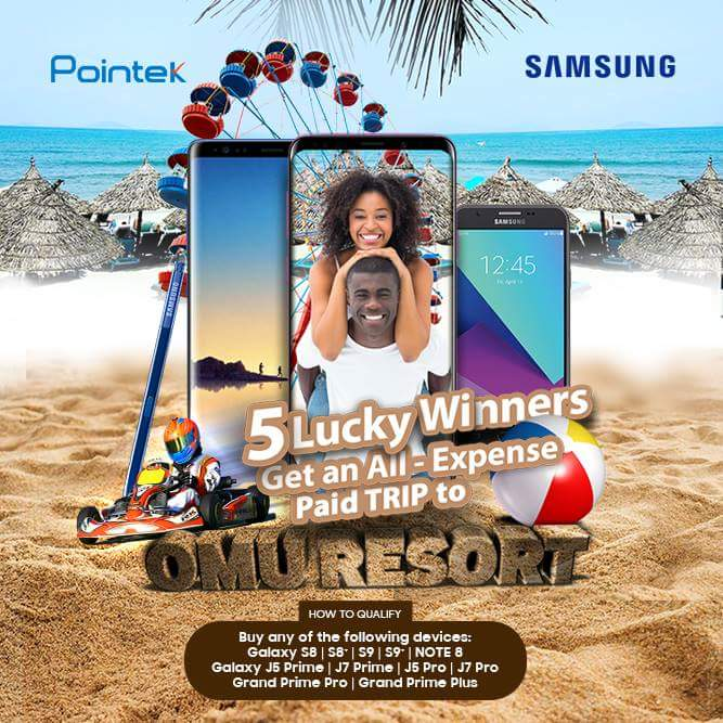 buy samsung phone in nigeria at pointek win free trip to omu resort