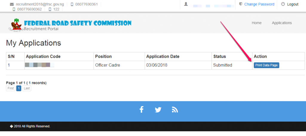print frsc recruitment form document for job vacancy nigeria