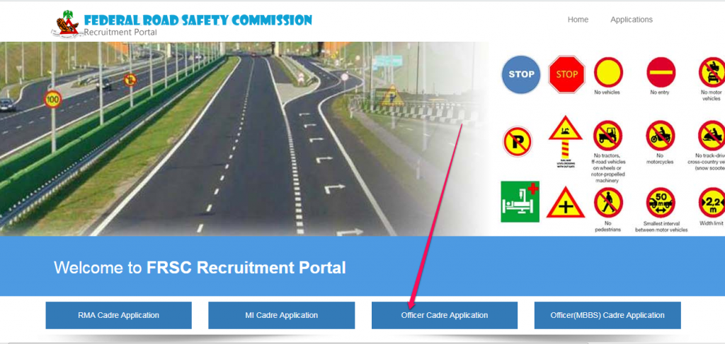 register frsc recruitment application 2018