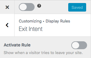 mailoption wordpress plugin exit intent