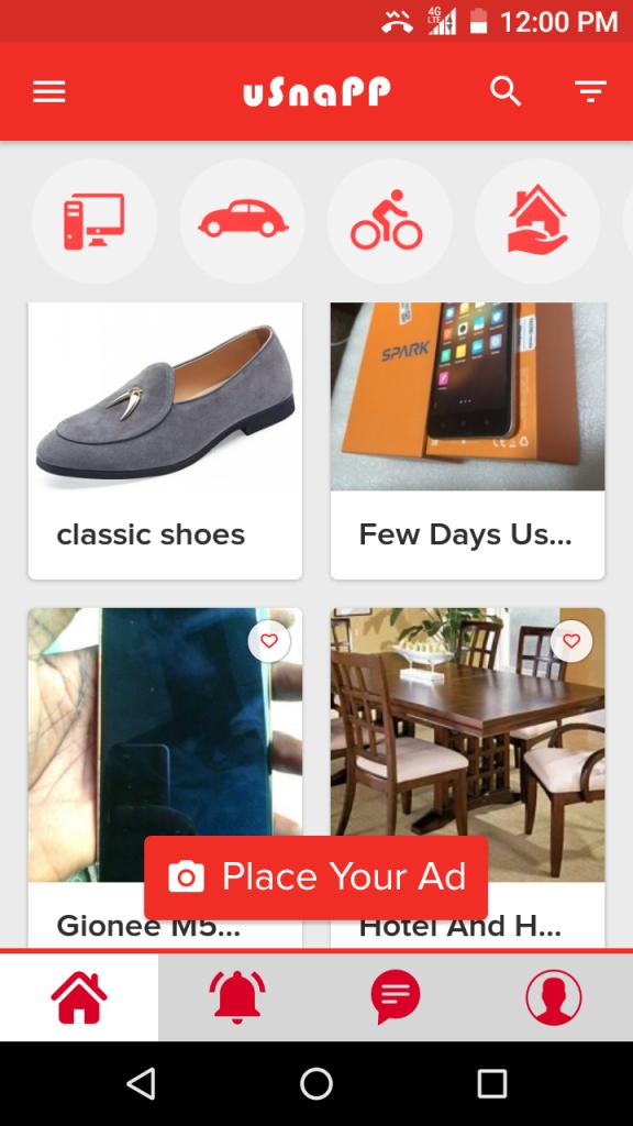 usnapp mobile shopping app