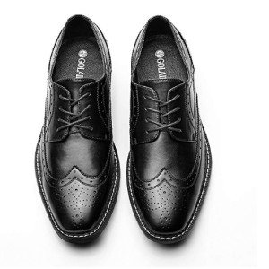 Men's Wingtip Classic Italy Lace-up Black Dress Shoes