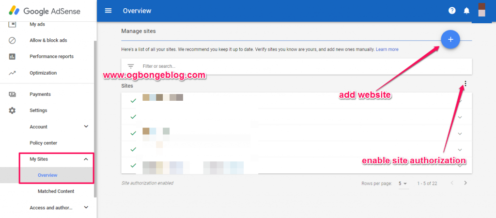 add website to google adsense for blog monetization