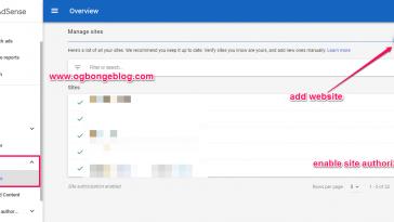 add website to google adsense for blog monetization