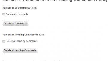 bulk delete all comments wordpress webdesign web development