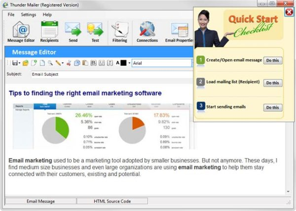 bulk email sender thundermailer