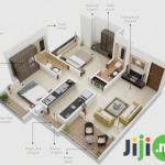 2 bedrooms flat survey plan
