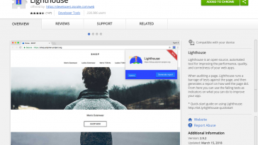 free seo adit too lighthouse chrome extension