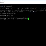 update discourse via ssh vps hosting