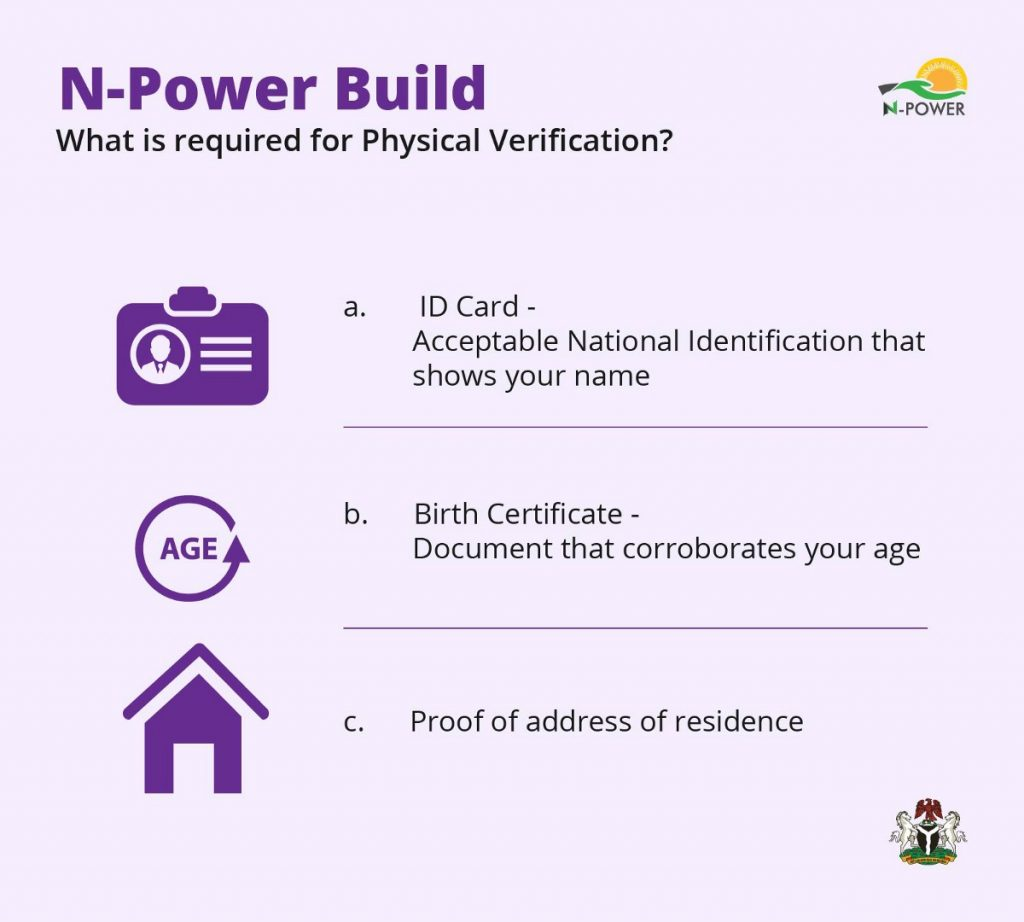 npower build physical verification requirements