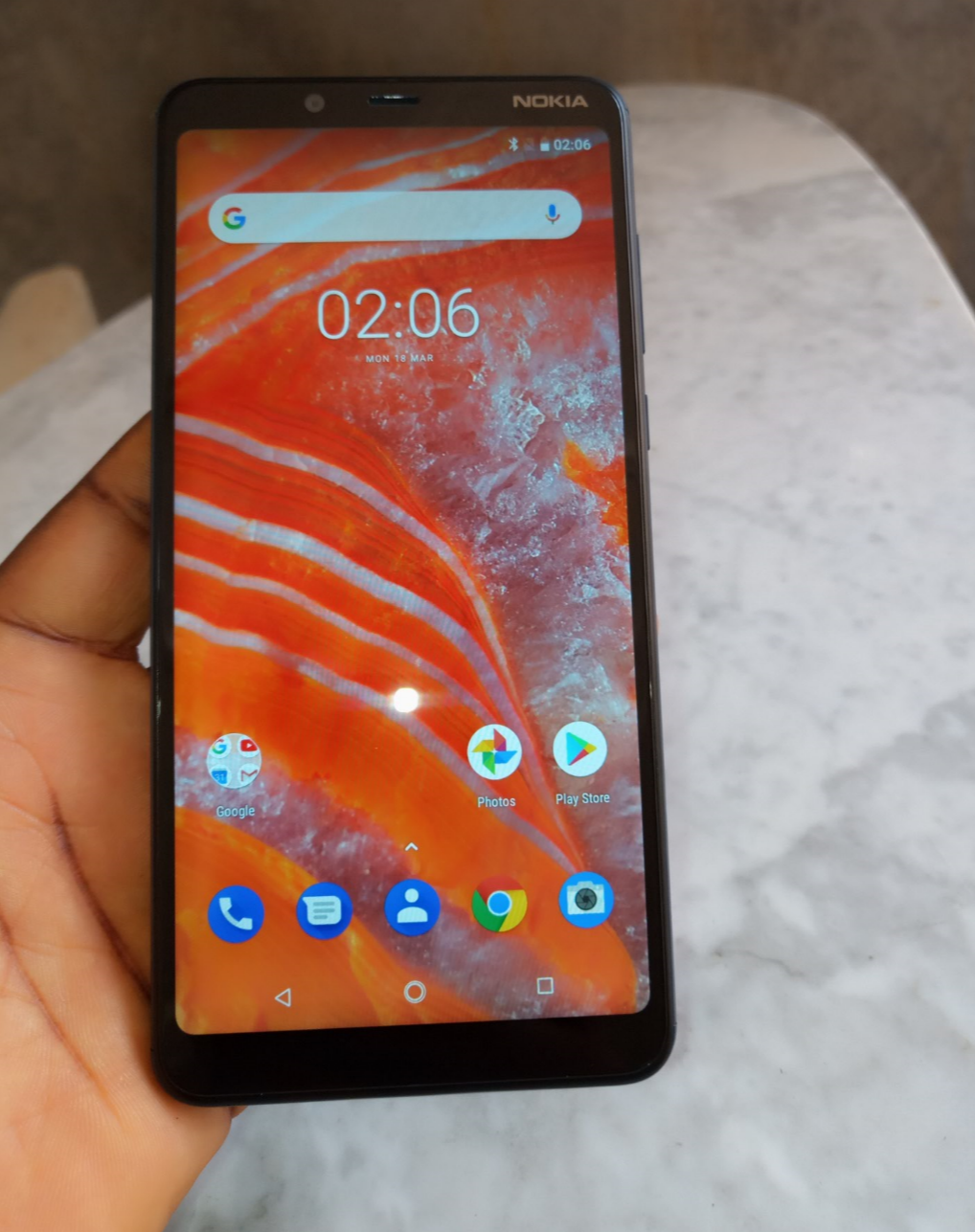 nokia 3.1 plus front camera and earpiece screen