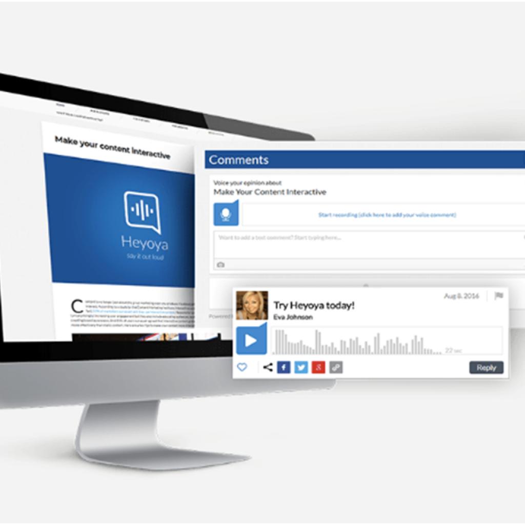 heyoya voice comments platform