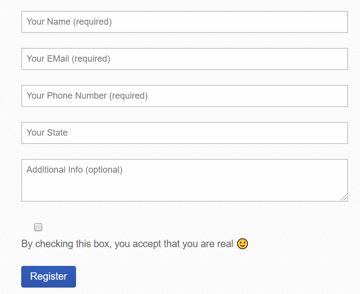 contact form 7 form with placeholder texts