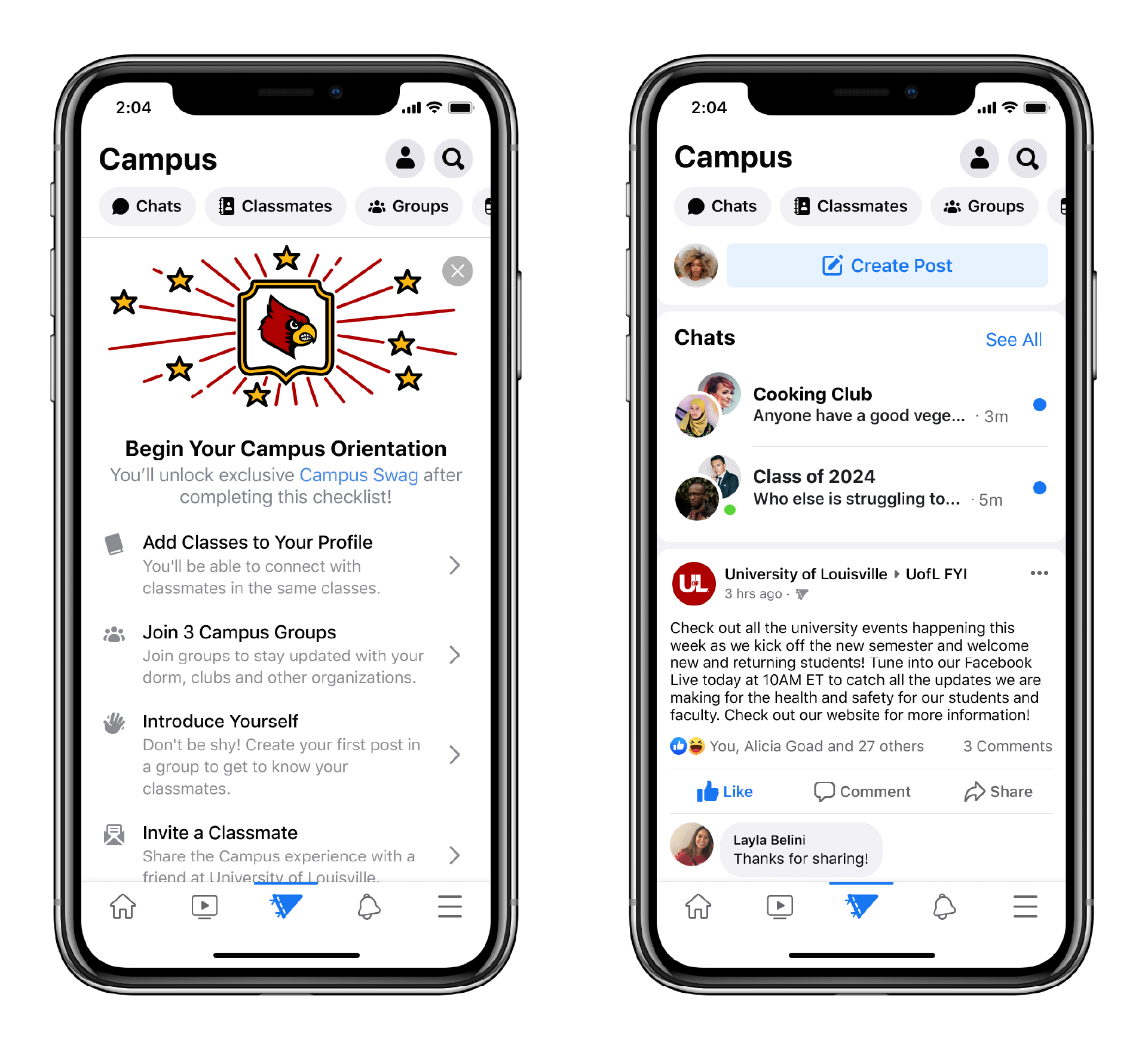 facebook campus social network for college students