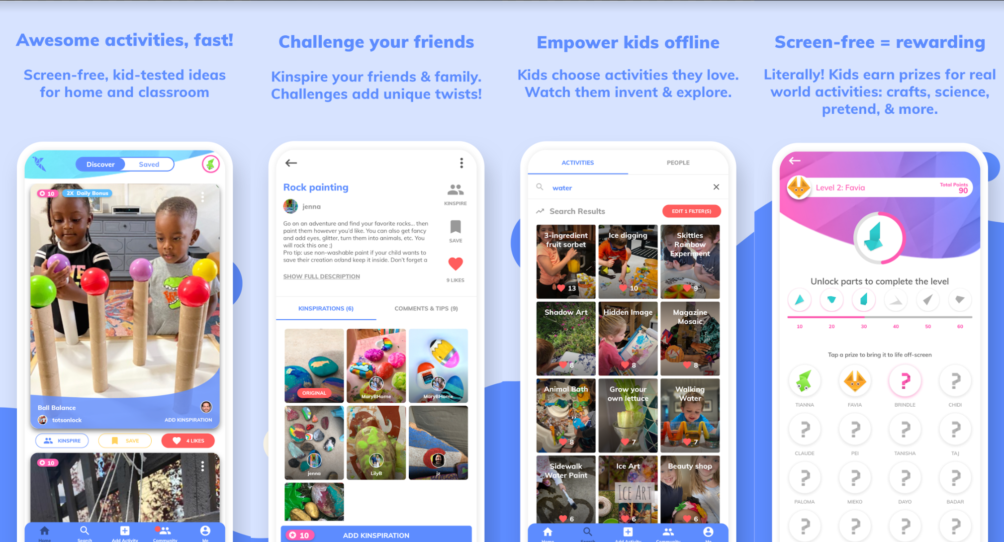 kinspire fun mobile app for kids for android and ios iphone